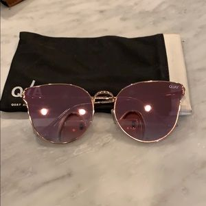 Quay Australia pink reflective cat eye sunglasses